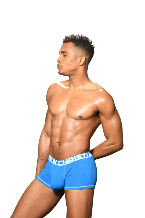 Andrew Christian Almost Naked Cotton Boxer Blauw