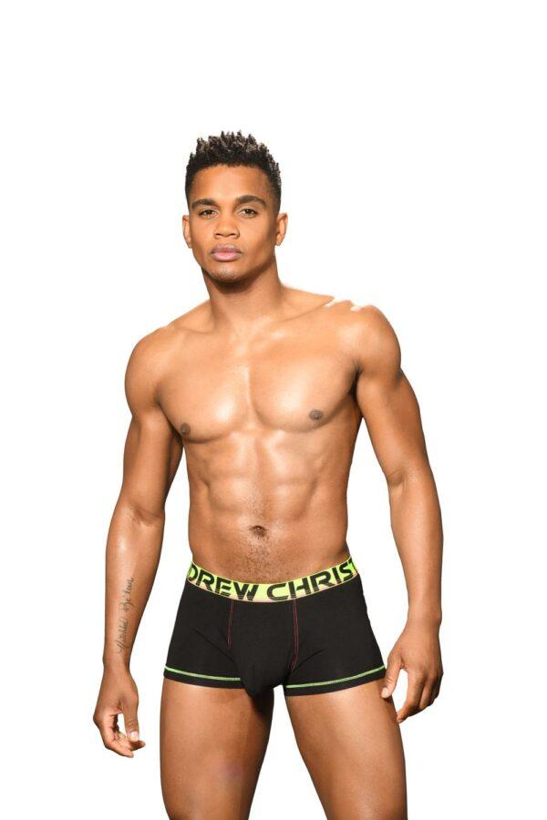 Andrew Christian Almost Naked Cotton Boxer Zwart