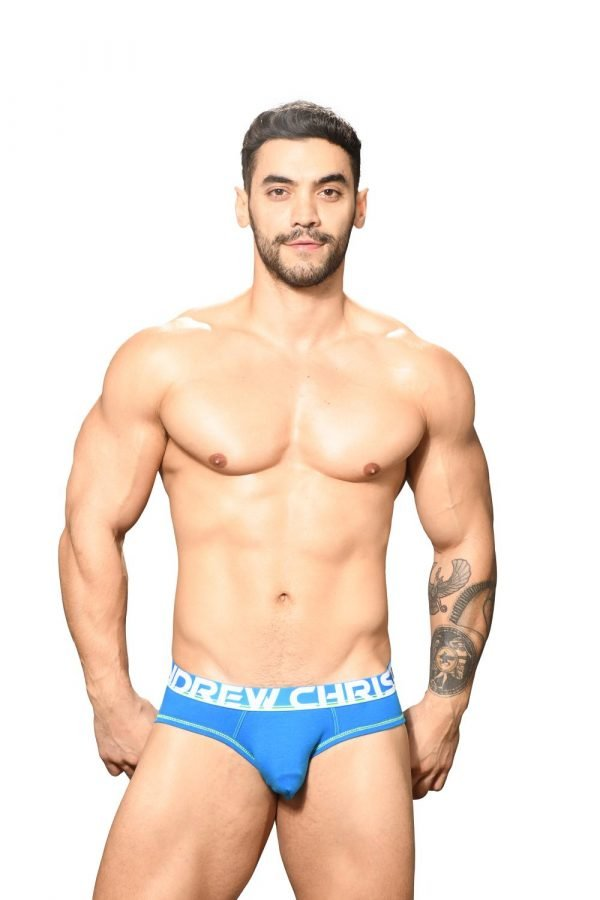 Andrew Christian Almost Naked Cotton Brief Blauw
