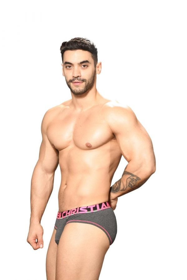 Andrew Christian Almost Naked Cotton Brief Grijs