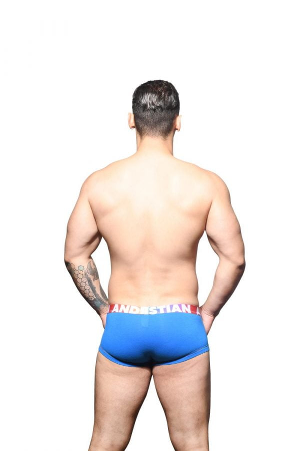 Andrew Christian Almost Naked Cotton Pride Boxer Blauw