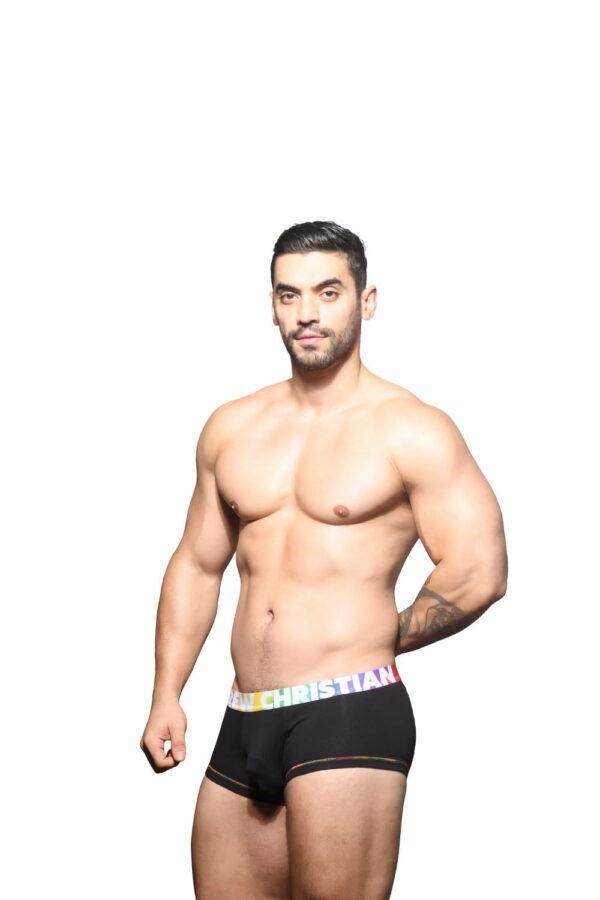 Andrew Christian Almost Naked Cotton Pride Boxer Zwart