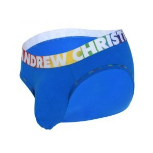 Andrew Christian Almost Naked Cotton Pride Brief Blauw