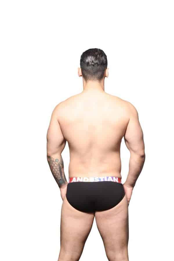 Andrew Christian Almost Naked Cotton Pride Brief Zwart