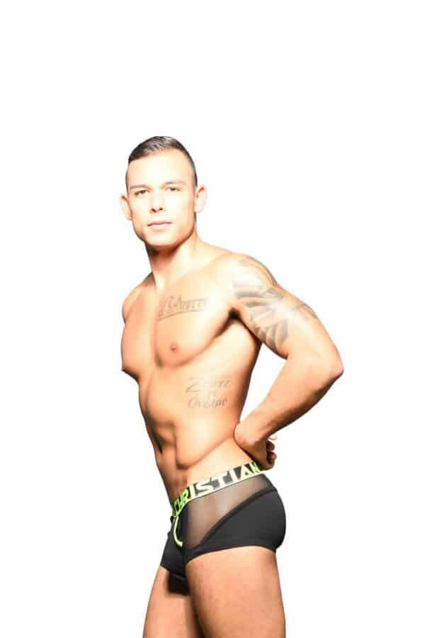 Andrew Christian Almost Naked Retro Net Boxer Zwart