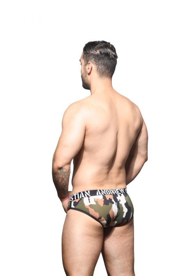 Andrew Christian Camouflage Brief w/ Almost Naked Groen