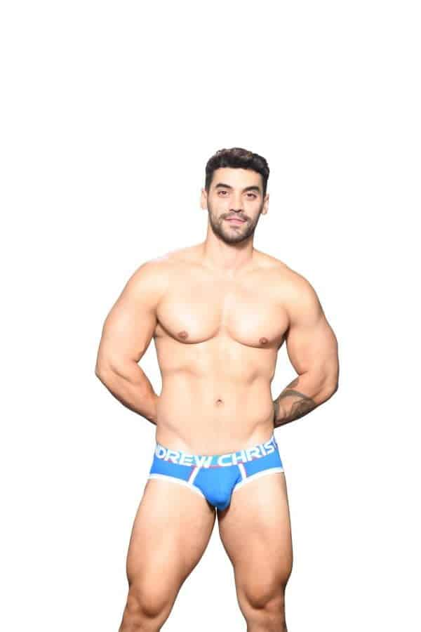 Andrew Christian CoolFlex Active Modal Brief w/ Show-It Blauw
