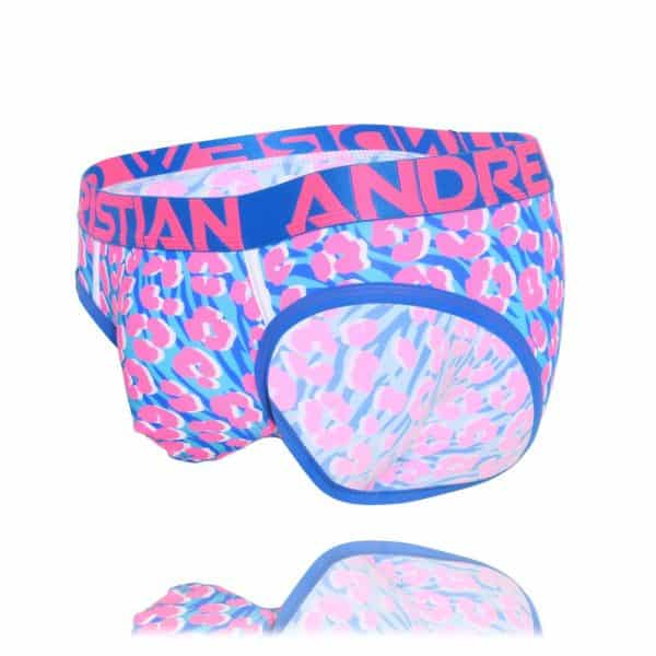 Andrew Christian Disco Animal Brief w/ Almost Naked Blauw