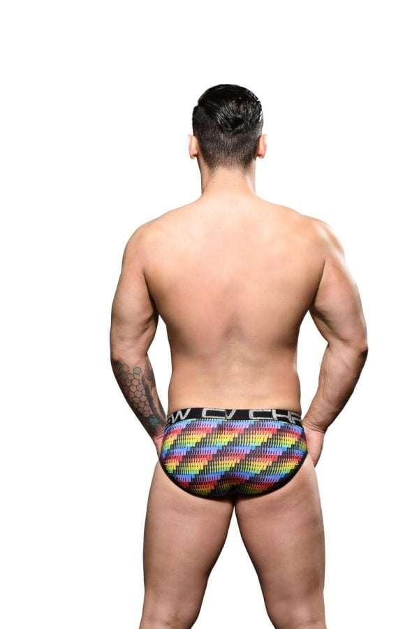 Andrew Christian Disco Pride Brief w/ Almost Naked Zwart