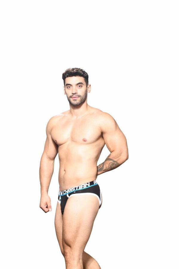 Andrew Christian Fly Locker Room Jock w/ Almost Naked Zwart