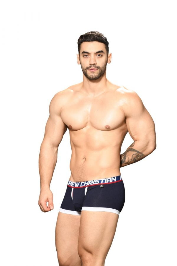 Andrew Christian Fly Tagless Boxer w/ Almost Naked Navy