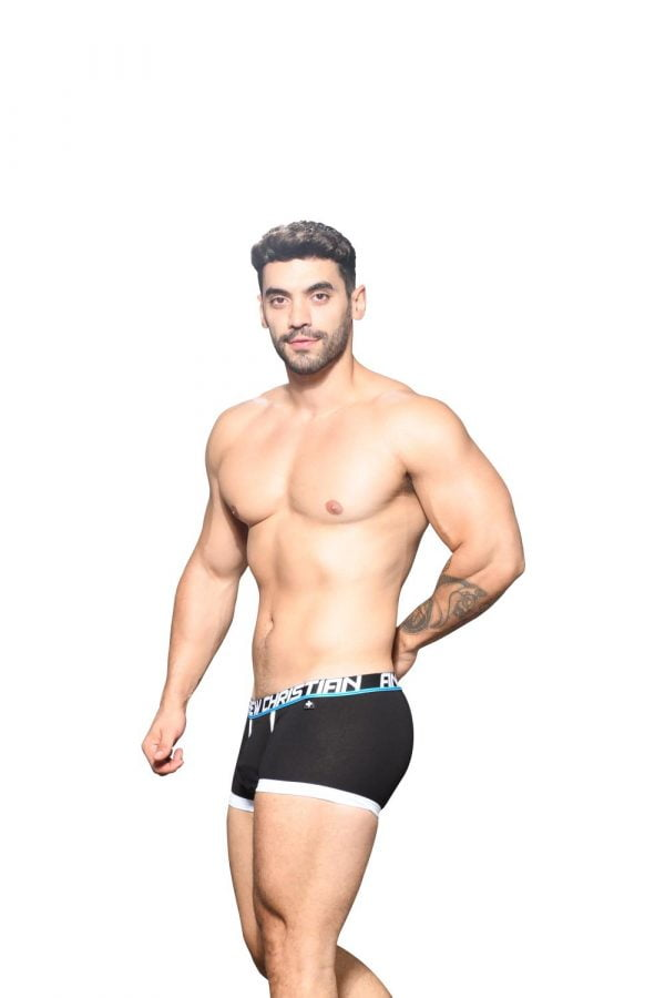 Andrew Christian Fly Tagless Boxer w/ Almost Naked Zwart