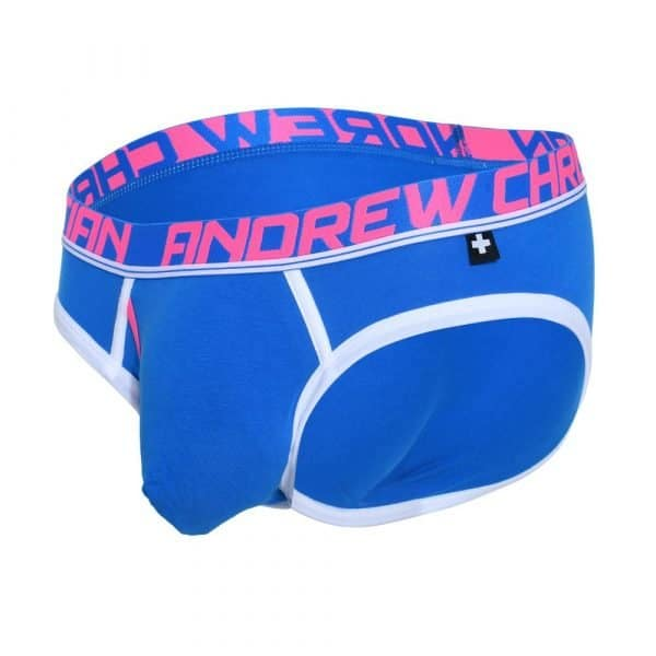 Andrew Christian Fly Tagless Brief w/ Almost Naked Blauw