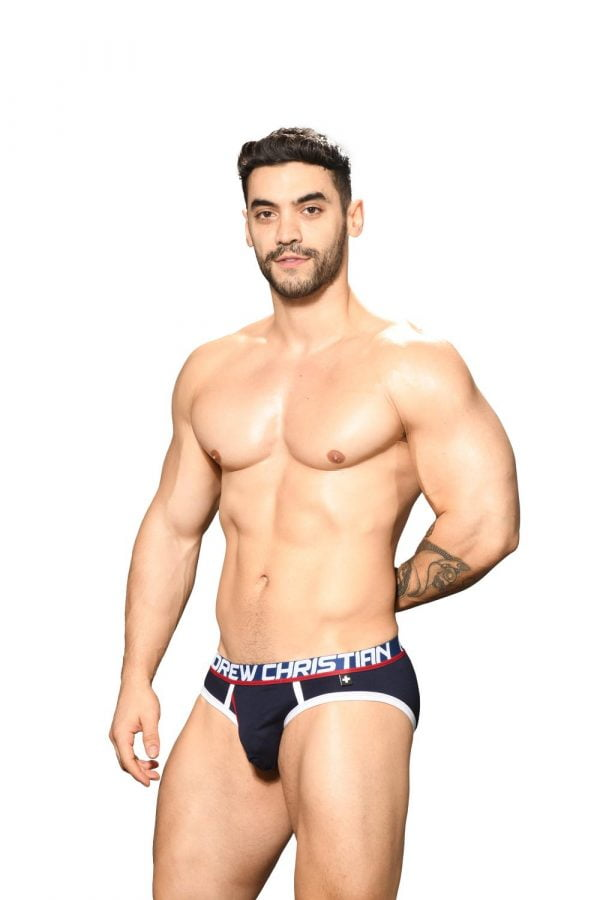 Andrew Christian Fly Tagless Brief w/ Almost Naked Navy