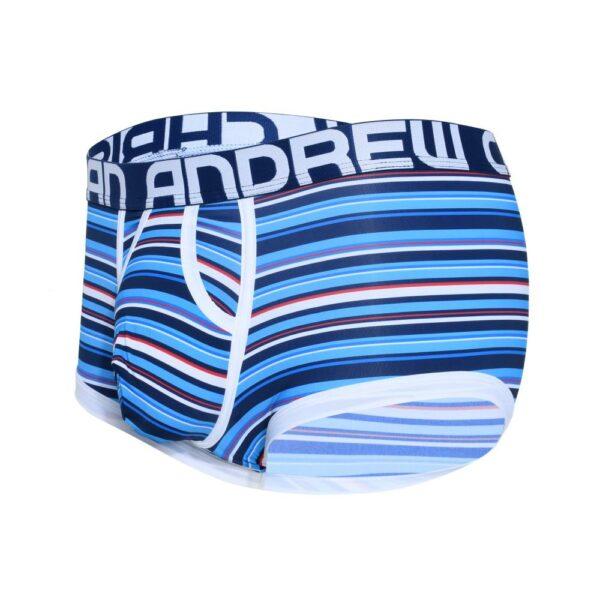 Andrew Christian Hampton Stripe Boxer w/ Almost Naked Blauw