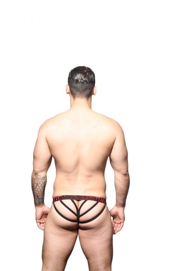 Andrew Christian Inferno Lattice Thong w/ Almost Naked Rood