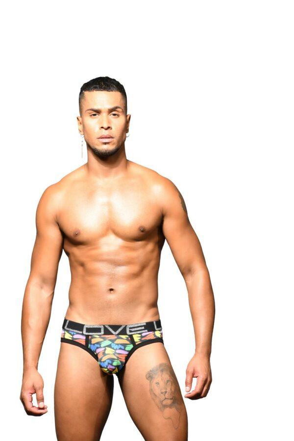 Andrew Christian Love Pride Slash Brief w/ Almost Naked Zwart