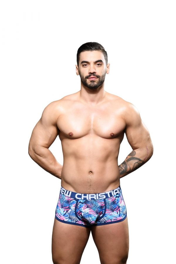 Andrew Christian Palm Beach Boxer w/ Almost Naked Blauw