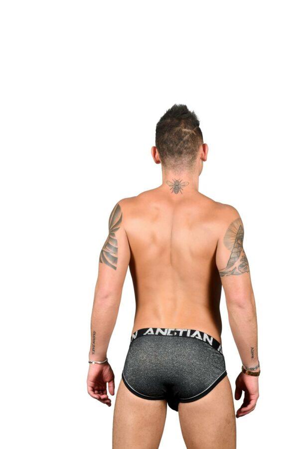 Andrew Christian Sparkle Denim Brief w/ Almost Naked Zwart