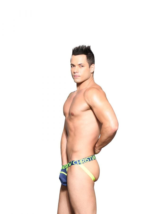 Andrew Christian Sports Mesh Arch Jock w/ Almost Naked Navy