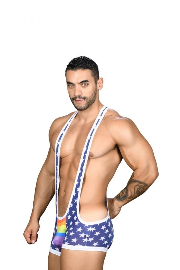 Andrew Christian Star Pride Singlet w/ Almost Naked Blauw