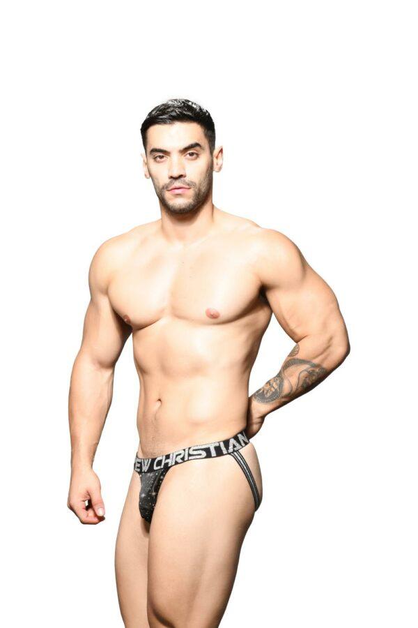 Andrew Christian Starlight Jock w/ Almost Naked Zwart