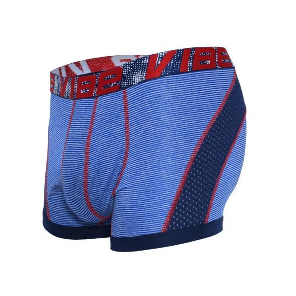Andrew Christian Vibe Stripe Sports Mesh Boxer Blauw