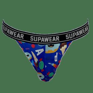 Supawear POW Thong Dessert Blauw