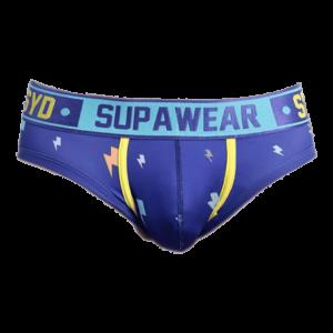 Supawear Sprint Thunda Brief Underwear Lightning Blauw