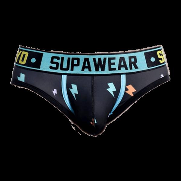 Supawear Sprint Thunda Brief Underwear Thunder Zwart